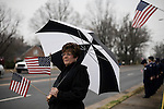 "December 21, 2007. Mint Hill, NC.. A funeral was held for Cpl. Joshua C. Blaney in Charlotte, NC. Cpl. Blaney died on December 12 from injuries sustained when an IED exploded near his vehicle in Afghanistan. He was 25.. Around a hundred people lined the streets around the funeral home to honor Cpl. Blaney as his body was taken to the church for services. Carol Simpson came out to ""support all the troops""."