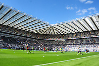 Newcastle United players warm up before kick off during Newcastle United vs Tottenham Hotspur, Premier League Football at St. James' Park on 13th August 2017