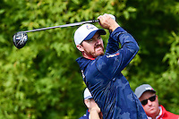 Jimmy Walker (USA) watches his tee shot on 10 during the practice round at the Ryder Cup, Hazeltine National Golf Club, Chaska, Minnesota, USA.  9/29/2016<br /> Picture: Golffile | Ken Murray<br /> <br /> <br /> All photo usage must carry mandatory copyright credit (&copy; Golffile | Ken Murray)
