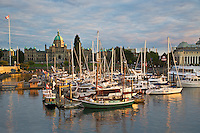 Victoria harbor at sunset. Vancouver B.C. Canada