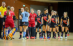 Almere - Zaalhockey  Amsterdam-HGC (v) . line up    .  TopsportCentrum Almere.    COPYRIGHT KOEN SUYK