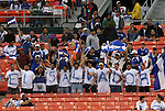 26 March 2008: El Salvador fans. The El Salvador Men's National Team defeated the Anguilla Men's National Team 4-0 at RFK Stadium in Washington, DC in the second leg of their CONCACAF First Round FIFA World Cup Qualifier. El Salvador won the series 16-0 on aggregate goals, advancing to the next round and eliminating Anguilla.