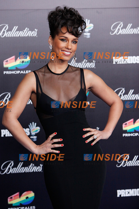 Alicia Keys attends 40 Principales awards photocall  2012 at Palacio de los Deportes in Madrid, Spain. January 24, 2013.  Foto  Insidefoto/ALTERPHOTOS/Caro Marin.ITALY ONLY