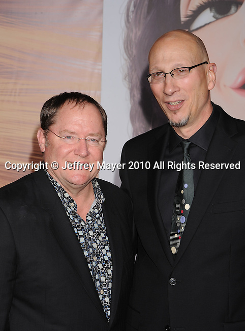 """HOLLYWOOD, CA. - November 14: John Lasseter, Executive producer and Roy Conli, producer attends the """"Tangled"""" Los Angeles Premiere at the El Capitan Theatre on November 14, 2010 in Hollywood, California."""