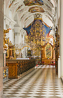Austria, Tyrol, Stams in Tyrolean Upper Inn Valley: Cistercian Abbey Stams, collegiate church - interior | Oesterreich, Tirol, Stams im Tiroler Oberinntal: Stift Stams, Stiftkirche - innen