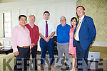 Colm Wu owner of the Skellig Star Hotel in Cahersiveen on the left pictured here with l-r; Johnny Horgan, Minister Brendan Griffin, Noel Kelleher, Yan Yu(F&B Manager) & Tony Donnelly.