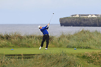 Daniel Holland (Castle) on the 4th tee during Matchplay Round 1 of the South of Ireland Amateur Open Championship at LaHinch Golf Club on Friday 22nd July 2016.<br /> Picture:  Golffile | Thos Caffrey<br /> <br /> All photos usage must carry mandatory copyright credit   (© Golffile | Thos Caffrey)