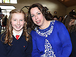 Nora Darcy who was confirmed at the Star of the Sea church Mornington pictured with sponsor Caroline Whelan. Photo:Colin Bell/pressphotos.ie