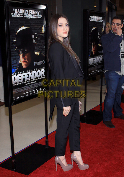 "KAT DENNINGS.""Defendor"" Los Angeles Premiere held at The Landmark Theater, Westwood, California, USA..February 22nd, 2010.full length black trousers side jacket beige gold shoes .CAP/ADM/TC.©T. Conrad/AdMedia/Capital Pictures."