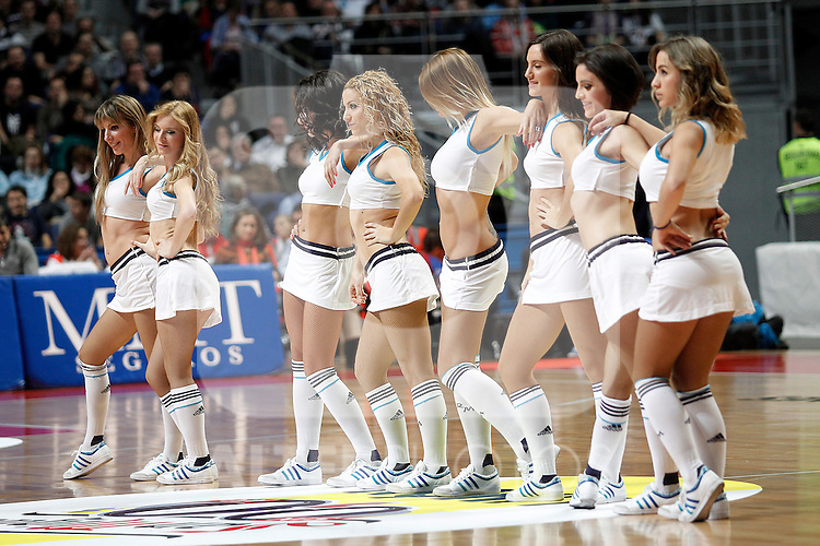 Real Madrid's cheerleaders during Euroleague 2012/2013 match.November 23,2012. (ALTERPHOTOS/Acero)