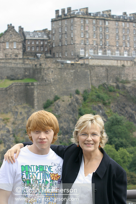 Stars Julie Walters and Rupert Grint attending a photocall with Edinburgh Castle as a backdrop to promote their new film Driving Lessons which was filmed in the city. The film was premiered at the Edinburgh International Film Festival. The Festival which ran from 14th to 27th August featured films from across the world and was at the time the world's longest running film festival.