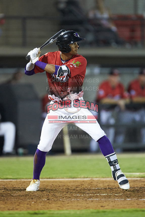 Joel Booker (2) of the Winston-Salem Dash at bat during the 2018 Carolina League All-Star Classic at Five County Stadium on June 19, 2018 in Zebulon, North Carolina. The South All-Stars defeated the North All-Stars 7-6.  (Brian Westerholt/Four Seam Images)