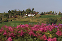 On course shot of Hero signage during the Preview of the Hero Indian Open at the DLF Golf and Country Club on Monday 5th March 2018.<br />