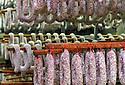 01/12/14 - PARLAN - CANTAL - FRANCE - Entreprise de salaisons LABORIE. Sechoir a saucisses et saucissons - Photo Jerome CHABANNE