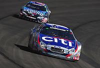 Oct. 10, 2009; Fontana, CA, USA; NASCAR Nationwide Series driver Greg Biffle (16) leads Joey Logano during the Copart 300 at Auto Club Speedway. Mandatory Credit: Mark J. Rebilas-