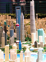 Scale model of the city of Shanghai in the Shanghai Urban Planning Exhibition Hall.
