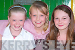 Singers from An Ghaeltacht who took part in the Flei Cheoil Competitions in Lixnaw on Sunday were Victoria Breakhand, Caoimhe Blennerhassett and Sibe?al Nic Dhui?bh..   Copyright Kerry's Eye 2008