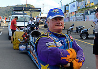 Jul, 20, 2012; Morrison, CO, USA: NHRA top fuel dragster driver Steve Chrisman during qualifying for the Mile High Nationals at Bandimere Speedway. Mandatory Credit: Mark J. Rebilas-US PRESSWIRE