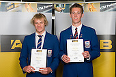 Boys Volleyball finalists Thomas Kearns & Johann Timmer. ASB College Sport Young Sportperson of the Year Awards 2008 held at Eden Park, Auckland, on Thursday November 13th, 2008.