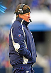 28 December 2008: New England Patriots' Head Coach Bill Belichick looks out from the sidelines during a game against the Buffalo Bills at Ralph Wilson Stadium in Orchard Park, NY. The Patriots kept their playoff hopes alive defeating the Bills 13-0 in their 16th win against Buffalo of their past 17 meetings. ***** Editorial Use Only ******..Mandatory Photo Credit: Ed Wolfstein Photo