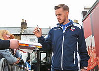 Bolton Wanderers' Craig Noone signs autographs after getting off the team coach<br /> <br /> Photographer Alex Dodd/CameraSport<br /> <br /> The EFL Sky Bet Championship - Brentford v Bolton Wanderers - Saturday 13th January 2018 - Griffin Park - Brentford<br /> <br /> World Copyright &copy; 2018 CameraSport. All rights reserved. 43 Linden Ave. Countesthorpe. Leicester. England. LE8 5PG - Tel: +44 (0) 116 277 4147 - admin@camerasport.com - www.camerasport.com
