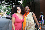 """Rain Pryor in her own play """"Fried Chicken and Latkes"""" poses with Nana Rucker at The National Black Theatre Festival with a week of plays, workshops and much more with an opening night gala of dinner, awards presentation followed by Black Stars of the Great White Way followed by a celebrity reception. It is an International Celebration and Reunion of Spirit. (Photo by Sue Coflin/Max Photos)"""