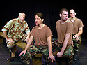 Pugilist Specialists by the Riot Group with Paul Schnabels,Stephanie Viola,Adiano Shoplin,Drew Friedman opens at the Soho Theatre 16/1/04 CREDIT Geraint Lewis