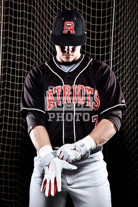 Germantown Academy baseball player Sean Coyle on December 30, 2009 in Fort Washington, Pennsylvania.  Coyle will play for North Carolina in the fall of 2010.