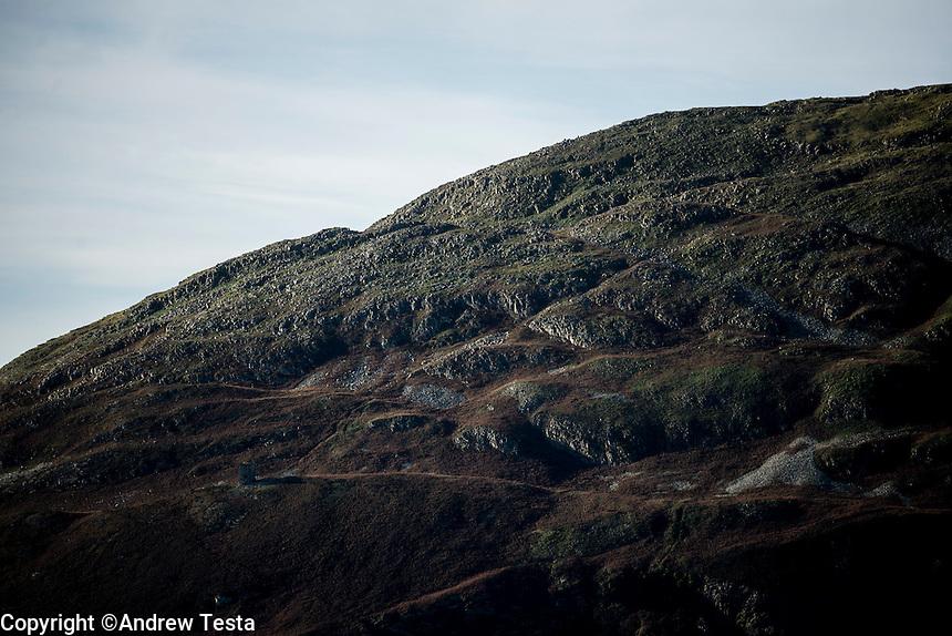 Scotland. Ailsa Craig . 10th November 2013<br /> Ailsa Craig<br /> &copy;Andrew Testa for the New York Times