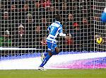 Nederland, Eindhoven, 18 januari 2013.Eredivisie.Seizoen 2012-2013.PSV-PEC Zwolle.Fred Benson van PEC Zwolle scoort de 0-1.