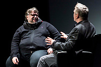 NEW YORK, NEW YORK - APRIL 25: Guillermo del Toro and Alec Baldwin during Tribeca Talks - Directors Series - Guillermo del Toro - 2019 Tribeca Film Festival at BMCC Tribeca in New York City. (Photo by Theo Wargo/Getty Images for Tribeca Film Festival) (Photo by Pablo Monsalve/VIEWpress/Corbis via Getty Images)