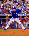 26 March 2018: Toronto Blue Jays pitcher Aaron Loup on the mound against the St. Louis Cardinals at Olympic Stadium in Montreal, Quebec, Canada. The Cardinals defeated the Blue Jays 5-3 in the first of two MLB pre-season exhibition games in the former home of the Montreal Expos. Mandatory Credit: Ed Wolfstein Photo *** RAW (NEF) Image File Available ***