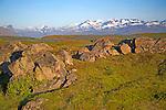 View of Helgrindur Mountains on Snaefellsnes Peninsula near Stykkisholmur in Iceland