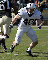 Penn State linebacker Dan Connor (40). The Penn State Nittany Lions defeated the Purdue Boilermakers 12-0 on October 28, 2006 at Ross-Ade Stadium, West Lafayette, Indiana.