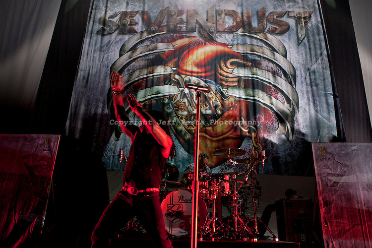 Sevendust live in concert at Verizon Theatre on August 22, 2010 with the Carnival of Madness tour in Grand Prairie, TX.