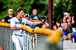 3 September 2018: Vermont Lake Monsters outfielder Nick Osborne gets the 3rd out in the 7th inning against the Tri-City ValleyCats at Centennial Field in Burlington, Vermont. The Lake Monsters defeated the ValleyCats 9-6 in the last game of the 2018 NY Penn League regular season. Mandatory Credit: Ed Wolfstein Photo *** RAW (NEF) Image File Available ***