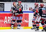 S&ouml;dert&auml;lje 2013-12-12 Ishockey Hockeyallsvenskan S&ouml;dert&auml;lje SK - Mora IK :  <br /> S&ouml;dert&auml;lje 14 Robert Carlsson jublar med lagkamrater S&ouml;dert&auml;lje 71 Philip DeSimone , S&ouml;dert&auml;lje 10 Damien Fleury och S&ouml;dert&auml;lje 70 Peter Nolander efter att ha kvitterat till 2-2 i slutet av matchen<br /> (Foto: Kenta J&ouml;nsson) Nyckelord:  jubel gl&auml;dje lycka glad happy