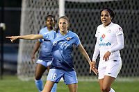 Piscataway, NJ - Sunday April 30, 2017: Sarah Killion and Sydney Leroux during a regular season National Women's Soccer League (NWSL) match between Sky Blue FC and FC Kansas City at Yurcak Field.