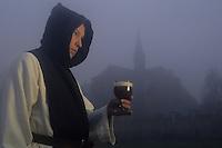 Europe/Belgique/Wallonie/Provinde de Hainaut/Chimay : Abbaye de Scourmont - Moine et bière trappiste