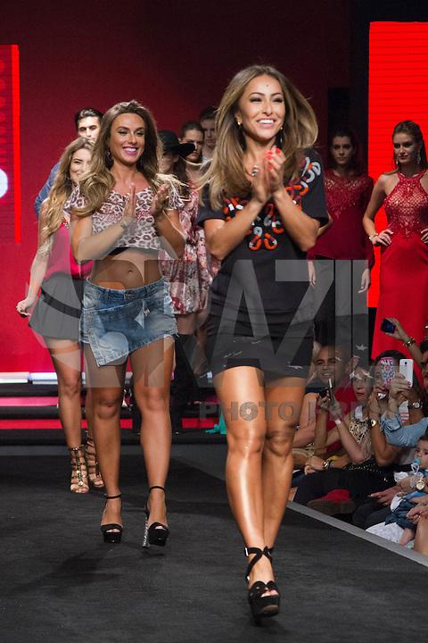 SÃO PAULO, SP, 04.03.2015 - MEGA FASHION WEEK -Erika Schneider; Sabrina Sato e Nicole Bahls desfilam no Mega Fashion Week, evento de moda que acontece em São Paulo (SP), na tarde desta quarta-feira (4). (Foto: Kevin David / Brazil Photo Press)