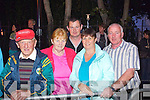 Pictured at Sharon Shannon on Monday night in Denny Street, from left: David Cahill and Peg Cahill, Knocknagoshel, Neilus Cahill, Duagh, Liz Nagle and Gerard Nagle, Knocknagoshel