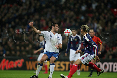 17.11.2010 Andy Carroll International Friendly from Wembley England v France.
