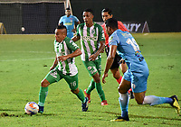 MONTERIA - COLOMBIA, 02-09-2018: Vladimir Hernandez, jugador de Nacional, en acción durante partido entre Jaguares de Córdoba y Atletico Nacional por la fecha 7 de la Liga Águila II 2018 jugado en el estadio Municipal de Montería. / Vladimir Hernandez, player of Nacional, in action during the match between Jaguares of Cordoba and Atletico Nacional for the date 7 of the Liga Aguila II 2018 at the Municipal de Monteria Stadium in Monteria city. Photo: VizzorImage / Andres Felipe Lopez / Cont