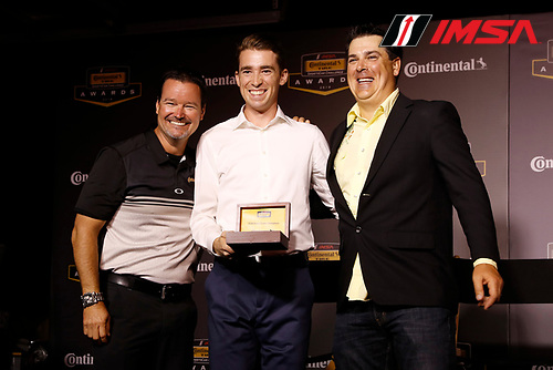 2018 Continental Tire SportsCar Challenge Awards, <br /> Travis Roffler, Devin Jones, Nick Galante