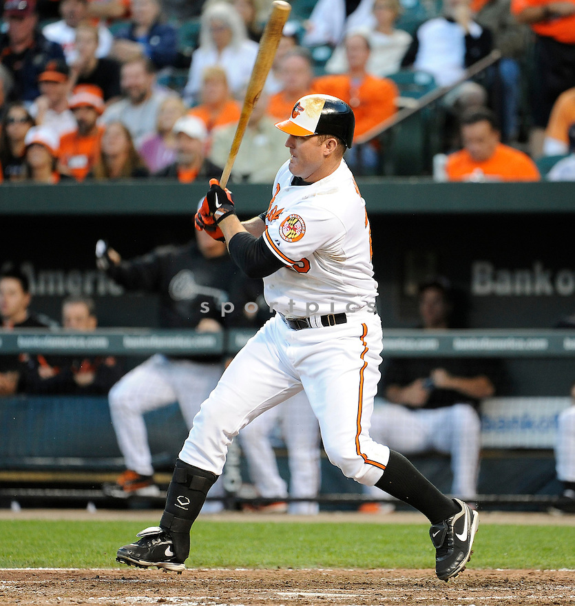Baltimore Orioles Jim Thome (25) in action during game 1 of a double header against the Toronto Blue Jays on September 24, 2012 at Orioles Park at Camden Yards in Baltimore, MD. The Orioles beat the Blue Jays 4-1.