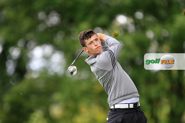 Ryan McKinstry (Cairndhu) on the 8th tee during round 1 of The Mullingar Scratch Cup in Mullingar Golf Club on Sunday 3rd August 2014.<br /> Picture:  Thos Caffrey / www.golffile.ie