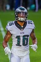Philadelphia Eagles wide receiver Bryce Treggs (16) during a preseason football game against the Green Bay Packers on August 10, 2017 at Lambeau Field in Green Bay, Wisconsin. Green Bay defeated Philadelphia 24-9.  (Brad Krause/Krause Sports Photography)
