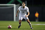 21 October 2016: Notre Dame's Sean Dedrick. The Duke University Blue Devils hosted the University of Notre Dame Fighting Irish at Koskinen Stadium in Durham, North Carolina in a 2016 NCAA Division I Men's Soccer match. Duke won the game 2-1 in two overtimes.