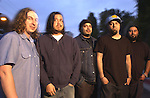 Various portraits of the rock band, Deftones