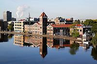 Verkade fabriek aan de Zaan in Zaandam